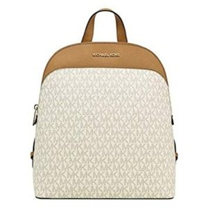 Michael Kors Emmy Dome Backpack - Vanilla & Brown